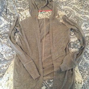 Sweaters - Maurice's medium Grey & Lace Cardigan